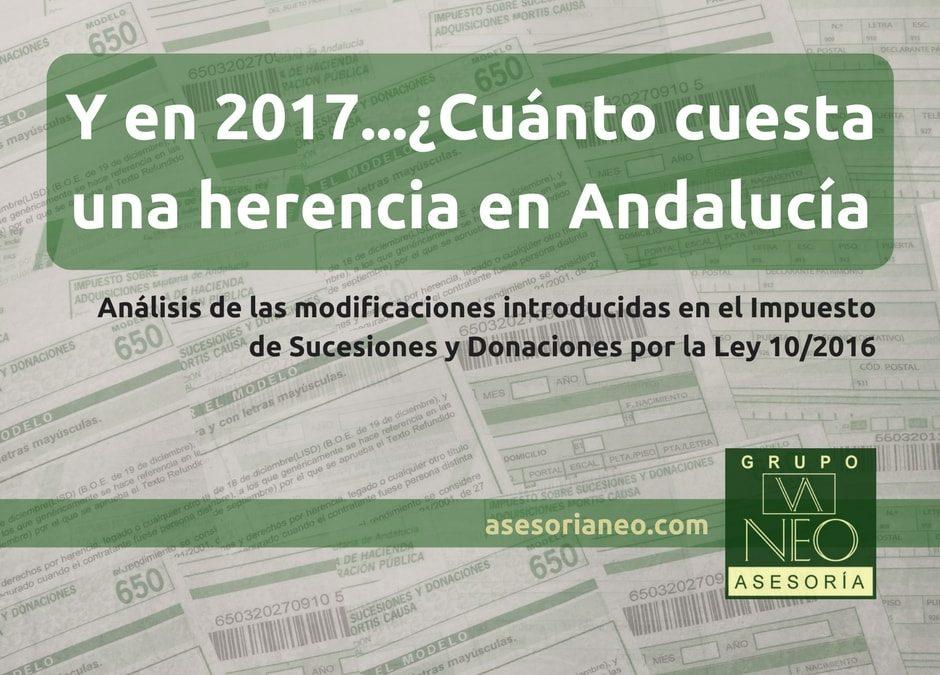 ¿Cuánto cuesta una herencia en Andalucía en 2017?